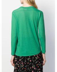 T-shirt a maniche lunghe di Zucca in Green