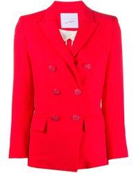 Giada Benincasa Red Double-breasted Blazer