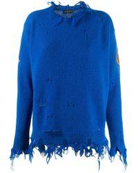 Etro Blue Distressed Sweatshirt