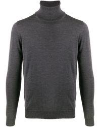 Zanone Gray Roll-neck Wool Jumper for men