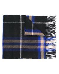 Écharpe à carreaux Burberry pour homme en coloris Blue