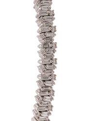 Suzanne Kalan Fireworks ダイヤモンド カフブレスレット 18kホワイトゴールド Multicolor