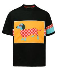 Prada Black Dachsund Print T-shirt for men