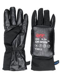 Off-White c/o Virgil Abloh Black Logo Detail Padded Gloves for men