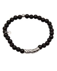 Tateossian Black Disc Bracelet for men
