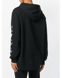 Palm Angels Black Dance Of Death Hoody for men