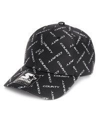Cappello da baseball con stampa di Marcelo Burlon in Black da Uomo