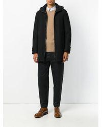 Herno - Black Zipped Padded Coat for Men - Lyst