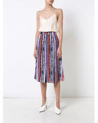 Prabal Gurung Multicolor Panel Pleated Skirt