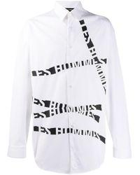 Chemise à bandes logos Les Hommes pour homme en coloris White