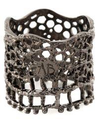 Aurelie Bidermann Black 'vintage Lace' Ring