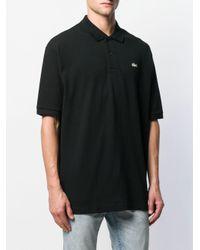 メンズ Lacoste L!ive ロゴ ポロシャツ Black