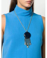 Marni Metallic Crystals Stone Embellished Necklace