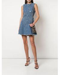Robe courte en jean Mugler en coloris Blue