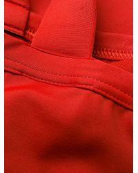 Bikini à boutons décoratifs Balmain en coloris Red