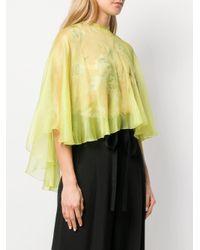 Maria Lucia Hohan Yellow 'Hohan' Cape-Bluse