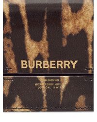 Portacarte con stampa di Burberry in Brown