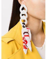 Boucles d'oreille oversize MSGM en coloris White