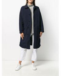Abrigo ligero con botonadura sencilla Aspesi de color Blue