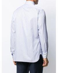 Рубашка Узкого Кроя В Тонкую Полоску Ermenegildo Zegna для него, цвет: Blue