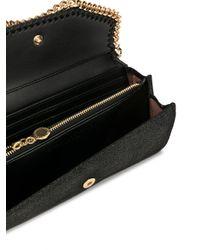 Portafoglio continental Falabella di Stella McCartney in Black