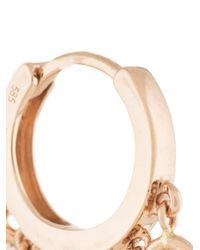 Jacquie Aiche ダイヤモンド フープピアス 14kローズゴールド Multicolor