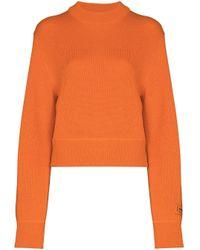 Heron Preston Stamp ウール ロゴ セーター Orange