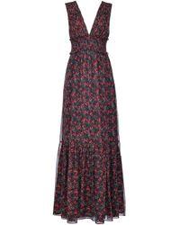 Pinko Black Floral-print Maxi Dress