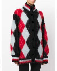 Laneus - Multicolor Rhombus Pattern Cardigan - Lyst