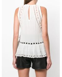 IRO Multicolor Eyelet Embroidered Sleeveless Top