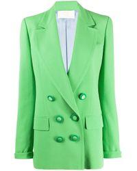 Blazer doppiopetto di Sara Battaglia in Green