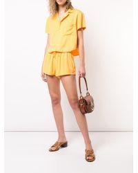 Onia Orange 'Aleen' Shorts