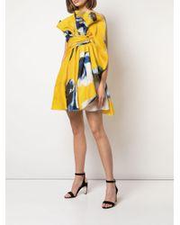 Carolina Herrera ウエストタイ ドレス Yellow