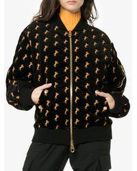 Chloé Velvet Bomber Jacket in het Black