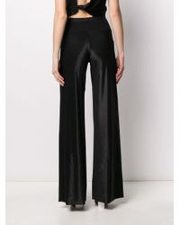 Rick Owens Lilies Tecuatl Satin Wide-leg Trousers Black
