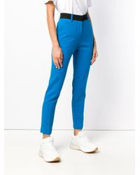 MSGM Blue Slim-fit Trousers