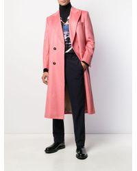 メンズ CASABLANCA ロング ダブルコート Pink