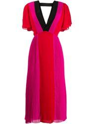 Karl Lagerfeld カラーブロック ドレス Pink
