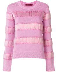 Sies Marjan Pink Velvet Stripe Sweater