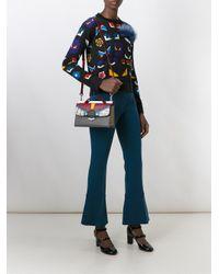 Fendi Gray Small 'demi Jour' Shoulder Bag