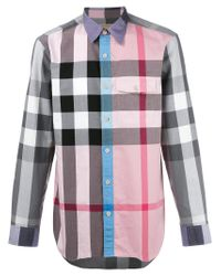 Burberry Multicolor Checked Shirt for men