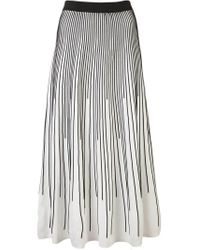 10 Crosby Derek Lam Black Striped Knit Skirt