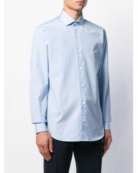 メンズ Z Zegna ロングスリーブ ボタンシャツ Blue