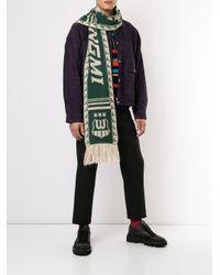 Écharpe en maille intarsia Wooyoungmi pour homme en coloris Green