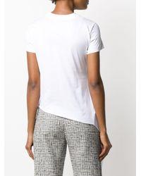 Marques'Almeida ドレープ Tシャツ White