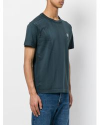 Stone Island - Green Printed Logo T-shirt for Men - Lyst