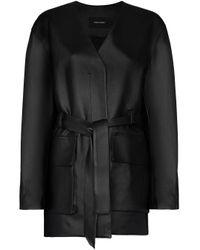 Cappotto con cintura di Low Classic in Black