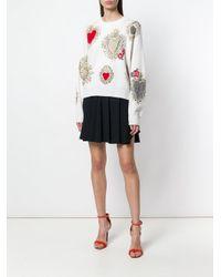 Dolce & Gabbana Multicolor Sacred Heart Knit Sweater