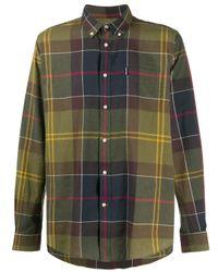 メンズ Barbour チェック ボタンシャツ Multicolor