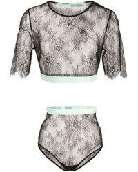 Off-White c/o Virgil Abloh Black Lace Lingerie Set